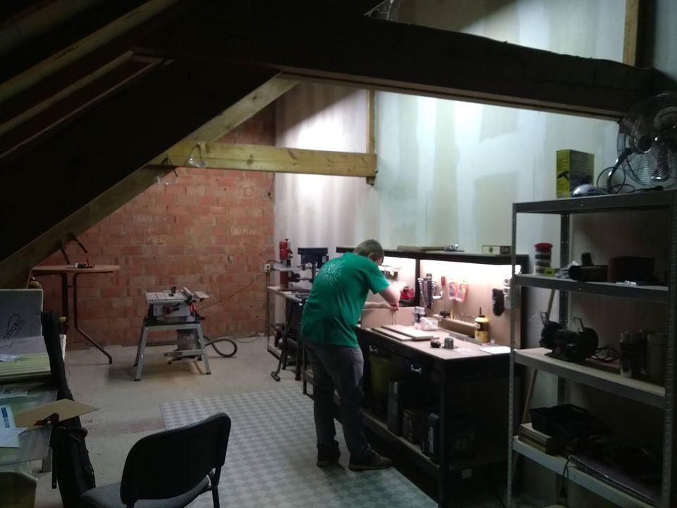 Het atelier/werkkot/vuile werkplaats
